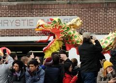 19th New Year Firecracker Ceremony & Festival, NYC  2-16-18 (local1256) Tags: firecracker lunarnewyear chinesenewyear chinatown festival streetcandid streetportrait streetfestival manhattan newyorkcity nyc candid candidphotos candidportrait portrait lion confetti