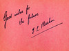 IMG_0014 MGS Autograph Book 1953 Good Wishes for the Future J L Machin (photographer695) Tags: mgs autograph book 1953 good wishes for future j l machin