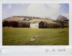 Thursday 15th February 2018 (ronet) Tags: thursdaywalk barn edale field instantfilm instax instax200wide kinderscout peakdistrict utata utata:project=tw617 england unitedkingdom
