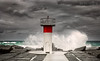 Wet & Wild (Beth Wode Photography) Tags: red goldcoast seaway goldcoastseaway waves crashingwave grayclouds wetwild lighthouse thespit mainbeach queensland beth wode bethwode
