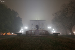 North Carolina State Capitol (Karnevil) Tags: usa northcarolina nc raleigh downtown downtownraleigh capitol capitolbuilding mainstreet morganst fayettevillest fog foggy georgewashington statues charlesduncanmciver 12mm laowa venusoptics sony a7rii a7 rii petekreps