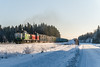 Freight train T53271 (Arttu Uusitalo) Tags: vr diesel locomotive dv12 freight train t53271 winter morning sunny southern ostrobothnia finnishrailways finland sony a6500