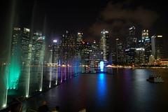 SINGAPORE MARINA BAY (meren34) Tags: marina singapore night panorama lights sea high sky line travel bay sandbay hotels long exposure show