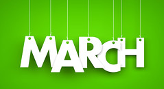 White word MARCH on green background. New year illustration. 3d illustration (jonettaallen77) Tags: 1 3dillustration 8 background cable calendar card celebration concept day decoration design graphic green greeting hang hanging happy hello holiday illustration international isolated knot march month monthly object paper ribbon rope sign spring string symbol template text white wire woman women