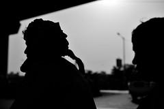 At the cross-roads (sanat_das) Tags: atthecrossroads man silhouette afternoon streetphotography 50mm d800 kalikapur kolkata
