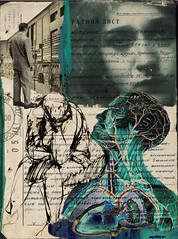 altered: waiting for approval (hoolia14oh4) Tags: altered collage art vintage russian form anatomy blue green nude eniac tears complexity