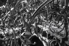 Brücke Ohlsdorf Südteich (Elbmaedchen) Tags: blackandwhite schwarzweis bw bridge brücke hamburg ohlsdorf friedhof cemetery memorial südteich schmiedekunst detail