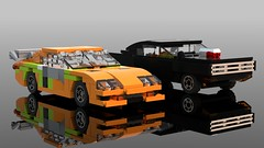 Fast and Furious (OWL3T) Tags: dodge toyota charger supra fast furious lego moc car vehicle sprint race