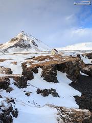 Arnastapi (dieLeuchtturms) Tags: 1x2 winter vesturland 3x4 snæfellsnes arnarstapi schnee island europa europe iceland snow is