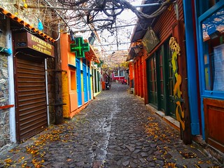 The market street of Molyvos village