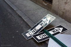New York City | Marketfield Street 01 (Christopher James Botham) Tags: newyork newyorkcity nyc manhattan lowermanhattan fidi financialdistrict street streetscape city cityscape sign oneway alley