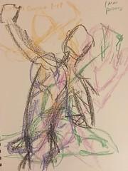Wild Goose 1.17.2018 warm up (Howard TJ) Tags: ohio columbus wildgoose male crayon lifedrawing life drawing study