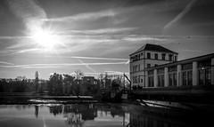 One more Nymburk ГЭС (gorelin) Tags: czech czechia nymburk hydropower powerstation river elbe sun sky skies bird birds sony sonya7 fe28f20 ilce7m2 28mm blackandwhite bw