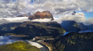 Milford Sound with Silky Clouds