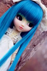 Blue Beautiful | Pullip Prunella (·Kumo~Milk·^^) Tags: pullip aqua prunella rewigged wig rechipped eyechips eyelashes gloss obitsu doll junplanning groove stock stockoutfit