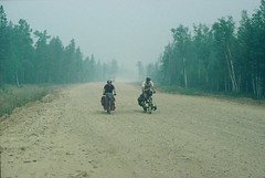 6a. A rough day at the office on the way to Irkutsk. The smoky air is caused by bushfires raging out of control