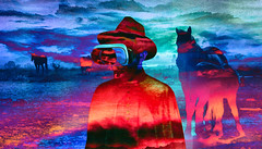gaucho inmerso (mos kid) Tags: cowboy digital photography art horse landscape dream surreal vr virtual reallity reality country gaucho caballo land