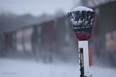 Snowy Mt. Morris Switch (R.G. Five) Tags: broom oregon mt morris il train railroad