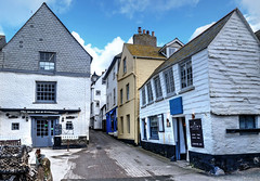 The village centre, Port Isaac, Cornwall (Baz Richardson (back on 26 May)) Tags: cornwall portisaac villages streetscenes narrowstreets gradeiilistedbuildings