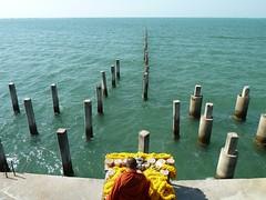 surreal pier memorial service, Buddhist college, Pattaya, Thailand