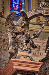Canopy Angel I 2015 ahdr (Greg Riekens) Tags: religious usa stpaulcathedral art bronze nikond7000 sanctuary nikkor minnesota stpaul midwest statue cathedral angel