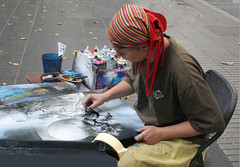 la artista (Manuel Capdevila, Santiago de Chile) Tags: