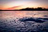 Madison, on ice (pauliefred) Tags: madison wisconsin unitedstates ice fishing icefishing hole color sky clouds sunset lake mendota lakemendota frozen winter canon texture