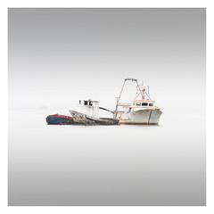 Wrecks (Vesa Pihanurmi) Tags: fishing sea lagoon venezia venice italy minimalism longexposure lagunaveneta venetianlagoon ship boat wreck foggy seascape