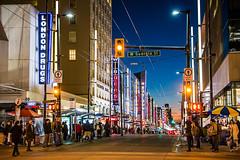 Las Granville Strip 🍸🎭🎷🏢 Vancouver, BC (Michael Thornquist) Tags: granvillestreet granvillest westgeorgiastreet neon neonsigns city streetphotography vancouver veryvancouver downtownvancouver 604now photos604 explorebc explorecanada canadiangeographics sharecangeo canoncanada ilovebc britishcolumbia pacificnorthwest pnw canada 500px