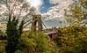 An alternative view (Peter Leigh50) Tags: bridge bristol suspension clifton trees avon gorge sky autumn autume leaves
