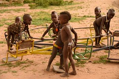 Hamar Kids (Rod Waddington) Tags: africa african afrique afrika äthiopien ethiopia ethiopian ethnic etiopia ethnicity ethiopie etiopian omovalley omo outdoor omoriver turmi village playground playing culture cultural children outdoors group girl boy