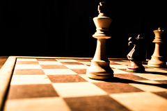 Pins and forks (JtDots.com) Tags: chess strategy figures bishop castle king queen square tactic game chessgame forking horse