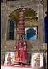 Famed Bhavai dance, celebrating women's efforts to carry water in the desert, Udaipur, Rajasthan, India (jitenshaman) Tags: asia asian travel destination worldlocations india indian rajasthan rajasthani udaipur dharohar dance dancer dancers perform performing costume traditional tradition talent talented entertain entertainment culture cultural ethnic performer performers performance bhavai balance balancing pots water carry bagorekihaveli star