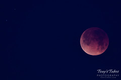 The total lunar eclipse