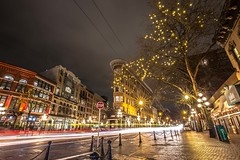 February 9, 2018. (Amanda Catching) Tags: today traffic longexposure line light city vancouver gastown