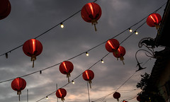 Red Lanterns in Chinatown Central Plaza - Los Angeles, CA (ChrisGoldNY) Tags: friendlychallenges challengewinners chrisgoldphoto chrisgoldny chrisgoldberg forsale licensing bookcovers bookcover albumcover albumcovers sonyalpha sonya7rii sonyimages sony losangeles la angeleno california socal californian usa america westcoast chinatown downtownlosangeles dtla newchinatown chinatowncentralplaza lanterns cloudy chinese red lights lightingdesign design decor lightbulbs skyporn sky cloudporn overcast grey