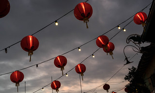 Red Lanterns in Chinatown Central Plaza - Los Angeles, CA