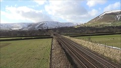 66009 entering the Vale of Edale with the 6E51 Peak Forest to Selby loaded limestone, 15th Feb 2018. (Dave Wragg) Tags: 66009 class66 dbschenker 6e51 edale valeofedale hopevalleyline derbyshire peakdistrictnationalpark loco locomotive railway