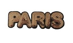 XL Pailletten Patch PARIS, Aufnäher, 14cm Bügelbild (patchmonkeys) Tags: patch glamour bügelbild pailletten glam edel abendmode gros applikation aufbügler xl bügelbilder patches large