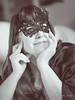 Espiègle (nathaliedunaigre) Tags: portrait eilahtan femme woman mask masque espiègle noiretblanc nb blackwhite bw