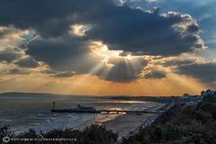 BOURNEMOUTH SUNDOWN.... (mark_rutley) Tags: bournemouth dorset beach sea coast winter sunset clouds sky pier bournemouthpier