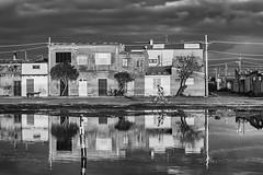 Tra acqua e fango - (Marceddì) (nicolamarongiu) Tags: marceddì acqua mare sunset tranonto biancoenero blackandwhite monocrome reflex riflessi sardegna italy bicicle bicicletta fango