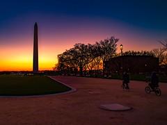 Sunset Washington DC (still_shotz) Tags: washingtonmonument bikes sunset washingtondc