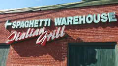 Close-up on the secondary sign (and the reason for closure) (Retail Retell) Tags: spaghetti warehouse closure closing italian grill restaurant huling avenue downtown memphis tn shelby county retail trolley interior decor 30 years opened 1987 closed november 19 2017