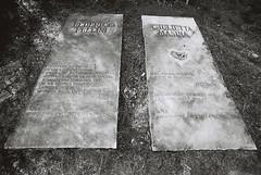 Federico + Giulietta (goodfella2459) Tags: nikon f4 doublex 200 35mm motion picture blackandwhite film petrella guidi federico fellini giulietta masina memorial stones tributes italy bwfp