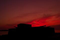 Dawn, Fort Montagu, Nassau, Bahamas (shanepinder) Tags: dawn morning early sunrise ocean sea water horizon montagubay nassau bahamas fort cannons silhouette horizontal newprovidence