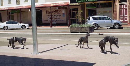 street sculpture in Goulburn, NSW, Australia