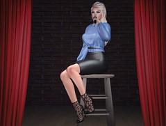 #298 - I  made a rookie mistake (Violet Batriani | Blogger | Model) Tags: secondlife fashion blog bento catya maitreya blue skirt classy sing rare gacha