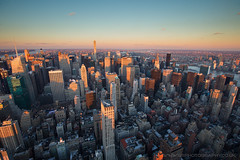 View from the Top of the Empire State Building, New York City, United States of America (iesphotography) Tags: newyork unitedstatesofamerica usa travel winter nyc ny bigapple travelphotography citybreak newyorkcity vacation location states stateside topofempirestate sunset empire worldtrade skyscraper