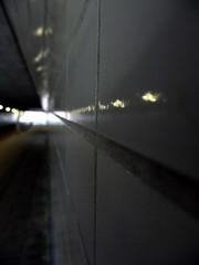 Tunnel 2 (CloudBuster) Tags: tunnel way through light graffiti railwaystation travel architecture shapes stairs red white grey orange up ns nederlandsespoorwegen nederland stationsarchitectuur fietstunnel voetgangerstunnel